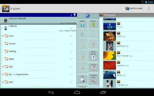X-plore File Manager Screenshot