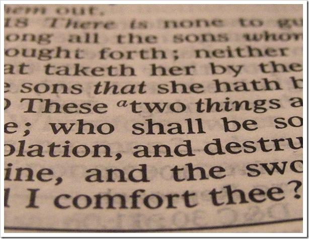 Scripture Print Sephia