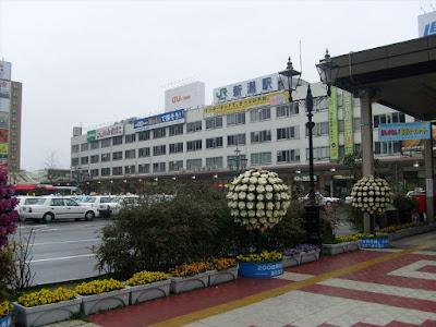 Niigata Station after a dewey start