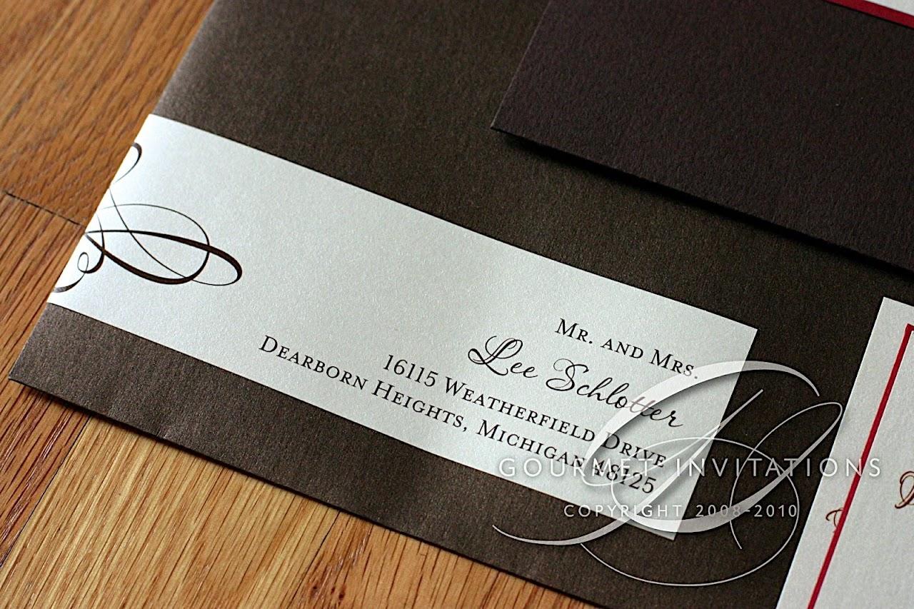 katie s pocket panels gourmet invitations