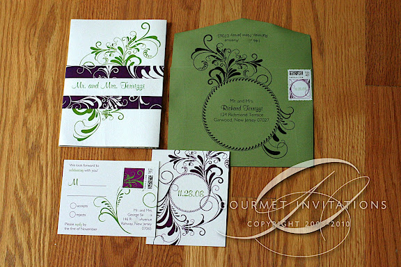 bridget s fold out panel invitations gourmet invitations