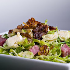 Brussels Sprouts Salad With Soppressata Vinaigrette Recipe