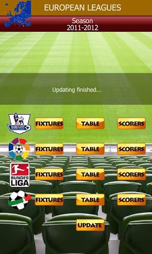 Major Football Tables Fixtures