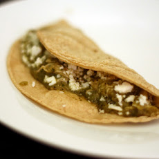 Dinner Tonight: Shredded Chicken and Tomatillo Tacos with Queso Fresco