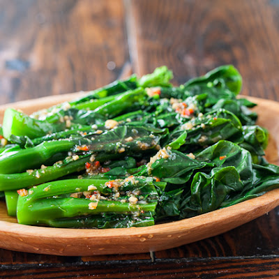 Chinese Broccoli with Garlicky Ginger Miso