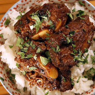 Pork riblets braised in garlic and black bean sauce. (Glenn Koenig / Los Angeles Times)