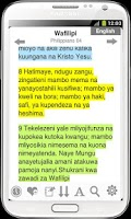 Screenshot of Bible Swahili