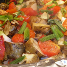 Rosemary-Roasted Jerusalem Artichokes and Tomatoes