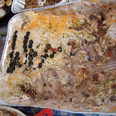 Layered Greek Bean Dip