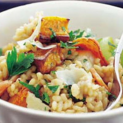 Roast Pumpkin And Leek Risotto