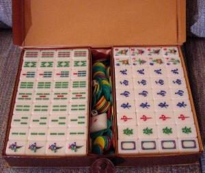 um conjunto de Mahjong