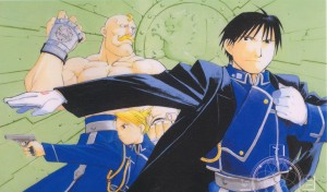 Alex Armstrong, Liza Hawkeye e Roy Mustang