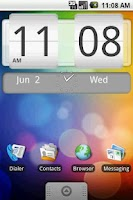Screenshot of FlipClock Android System 4x2