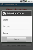 Screenshot of Escuela Sabática