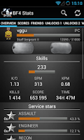Screenshot of Battlefield BF4 Stats