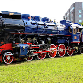 Blue locomotive(Tito) - Museum,Zagreb by Jerko Čačić - Transportation Trains