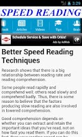 Screenshot of Speed Reading