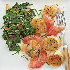 Seared Scallops with Pink Grapefruit-Brown Butter Sauce