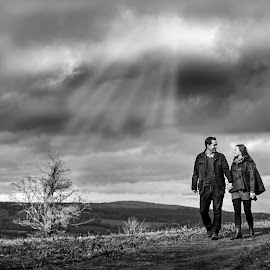 Hill top romance  by Martin Hill - Wedding Other ( engagement photography, pre wedding photography )