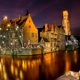 The Fairy Docks by Carlos Reyes - City,  Street & Park  Night