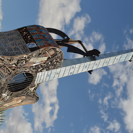 Heavy Metal by Brian  Boyle - Buildings & Architecture Statues & Monuments ( heavy metal, welding, photograph, scuplture, art, brian boyle, photography, sky, sclupturel, photographer, guitar, bb, yukonbrianboyle )