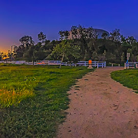 Trail Panorama by Apollo Reyes - Landscapes Prairies, Meadows & Fields ( sky, grass, sunset, sunrise, dusk, sun, panorama )