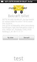 Screenshot of Mobil Billet
