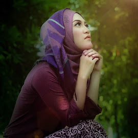 PRAY by Rahmat Sugee - People Portraits of Women