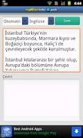 Screenshot of Türkçe-İngilizce Çeviri
