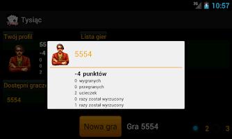 Screenshot of Tysiąc - gra karciana