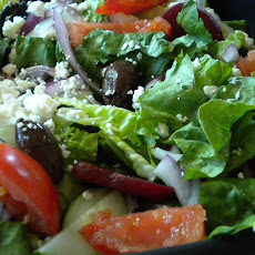 My Big Fat Greek Salad ( with fresh herb vinaigrette)