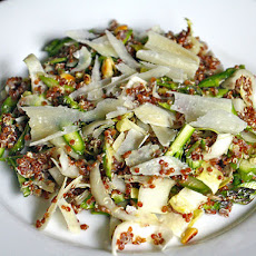 Mindy Fox's Red Quinoa, Raw Asparagus and Endive Salad with Shaved Parmigiano-Reggiano