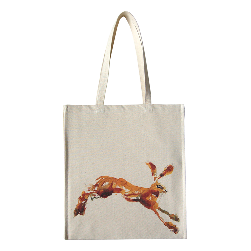 Hare rabbit bag tote shopper shopping canvas bags