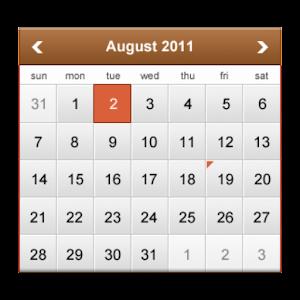 Простой Календарь