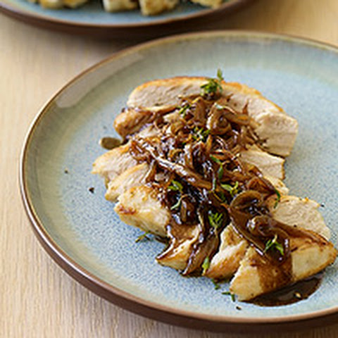 Chicken with Balsamic Vinegar, Sweet Onions and Thyme