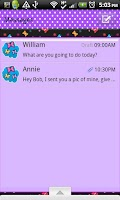 Screenshot of GO SMS THEME/BrightButterfly
