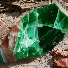 green mineral by Debbie Theobald - Nature Up Close Rock & Stone ( natual light, nature, arizona, unedited, rocks,  )