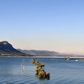 Hartbeespoortdam...South-Africa by Amanda Coertze - Nature Up Close Water ( water, watercolor, mountains, water surface )