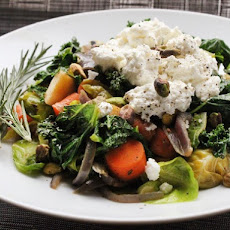 Warm Winter Vegetable Salad With Ricotta and Herbs