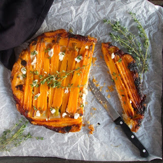 Caramelized Carrot and Goat Cheese Tarte Tatin