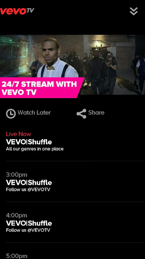 vevo-watch-free-music-videos for android screenshot