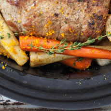 Sunday Veal Pot Roast with Parsnips, Carrots & Orange
