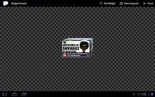Screenshot of Widget Preview