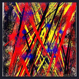 Enraged by Linda Tribuli - Digital Art Abstract ( digital abstract art )