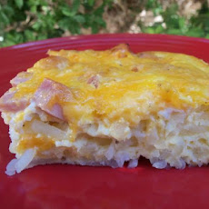 Low Fat Egg and Ham Breakfast Casserole