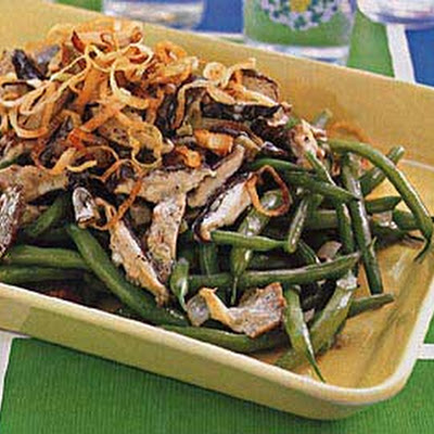 Green Beans with Mushroom-Madeira Sauce
