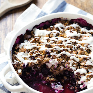 Simple Oat & Pecan Blueberry Crisp