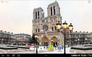 Screenshot of Snow in Paris Live Wallpaper
