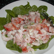 Tomato, Prawn and Spinach Salad (Low Gi)