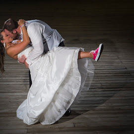 Dip on a Dock by Nick Schale - Wedding Bride & Groom ( wedding )